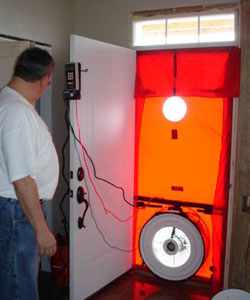 Energy Star 'blower door' test